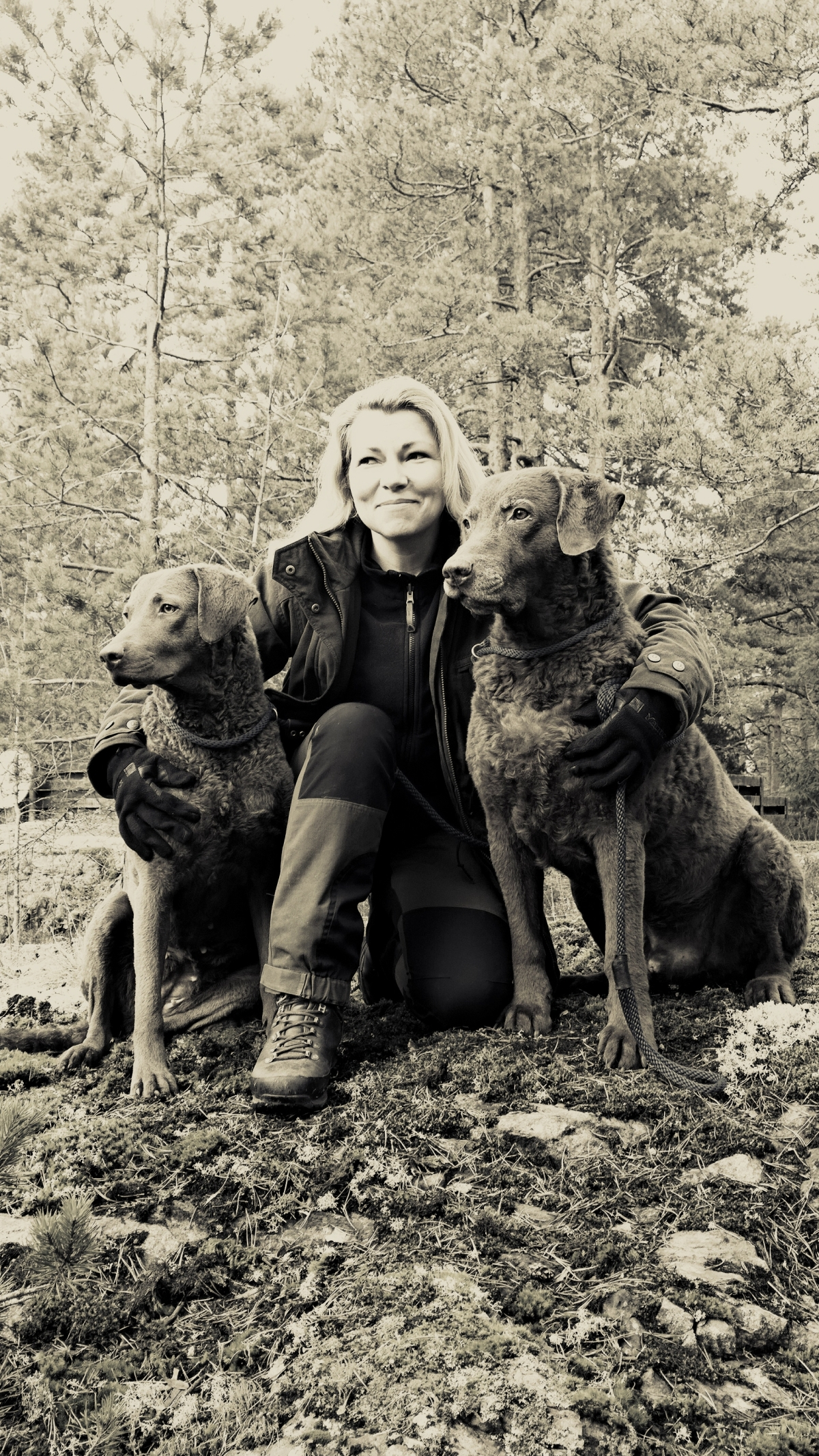 Me and my Chesapeake Bay Retrievers © Johanna Suomela, 2014