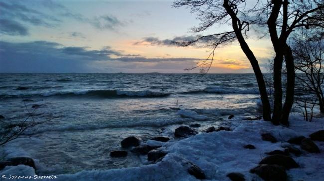 Auringonlasku tammikuu