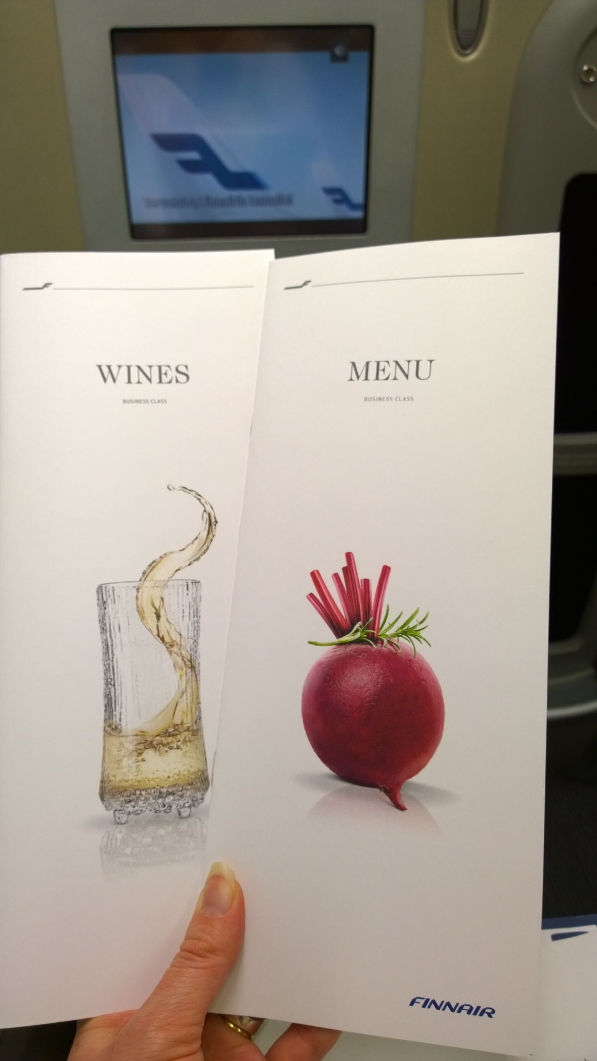 Winelist and menu