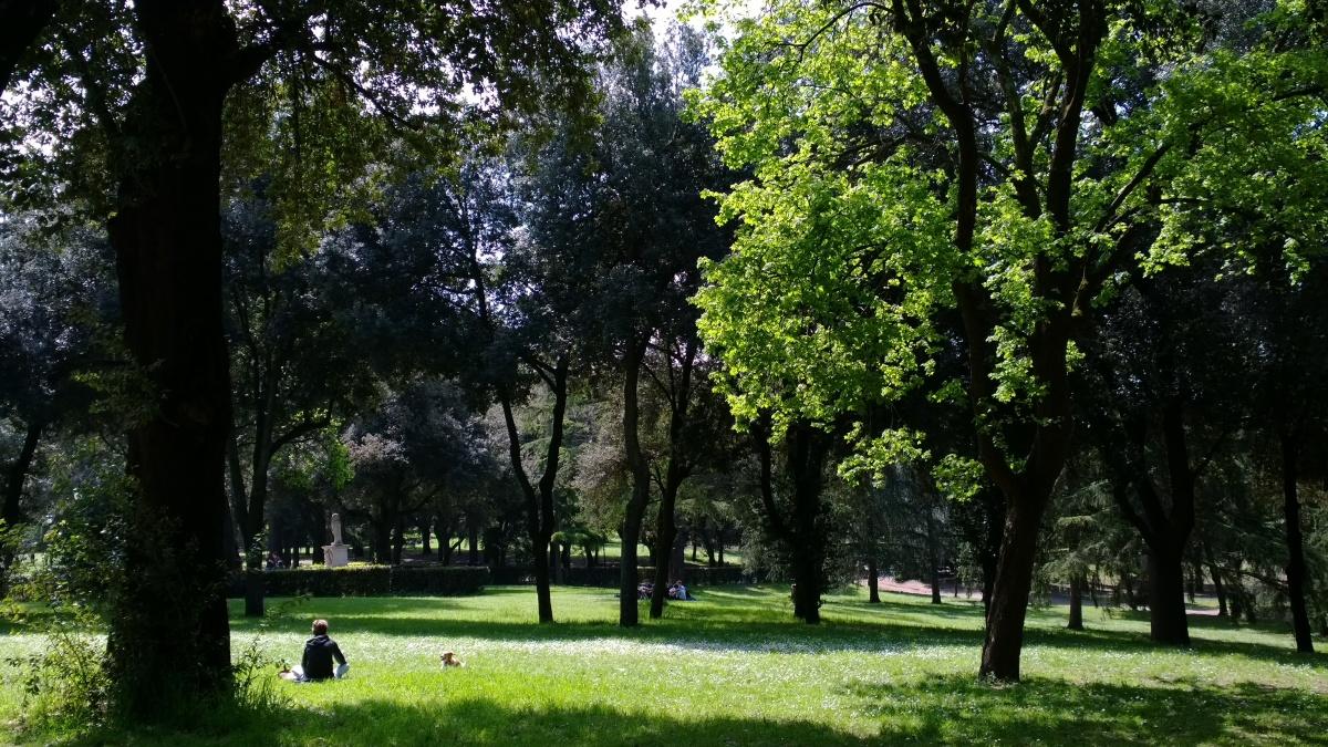 Villa Borghesen puisto Rooma
