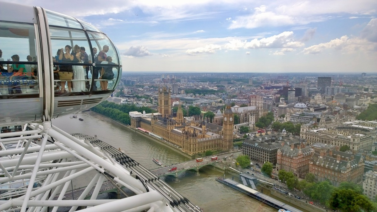 LondonEye and Houses of Parliament