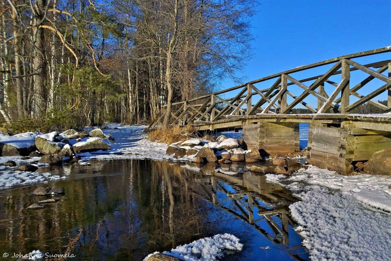 Kyynäränharjun silta, Liesjärven kansallispuisto