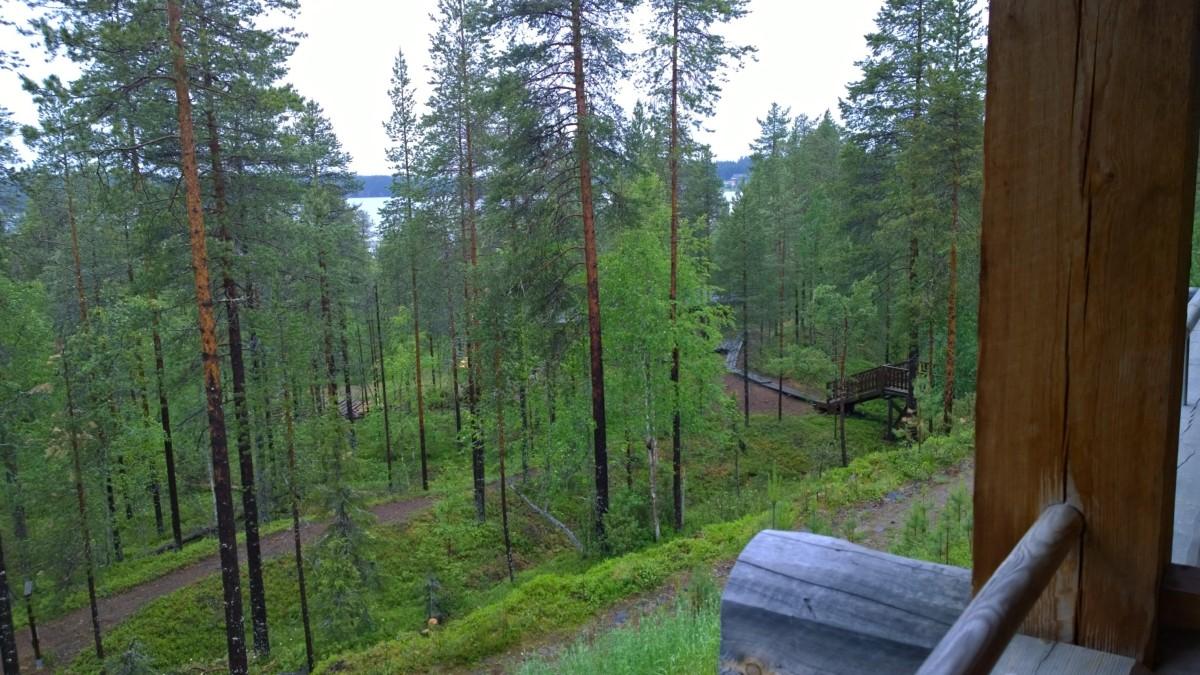 Basecamp Oulanka, näkymä parvekkeelta
