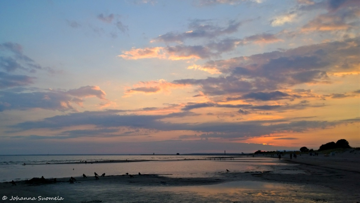 Parnu ranta auringonlasku