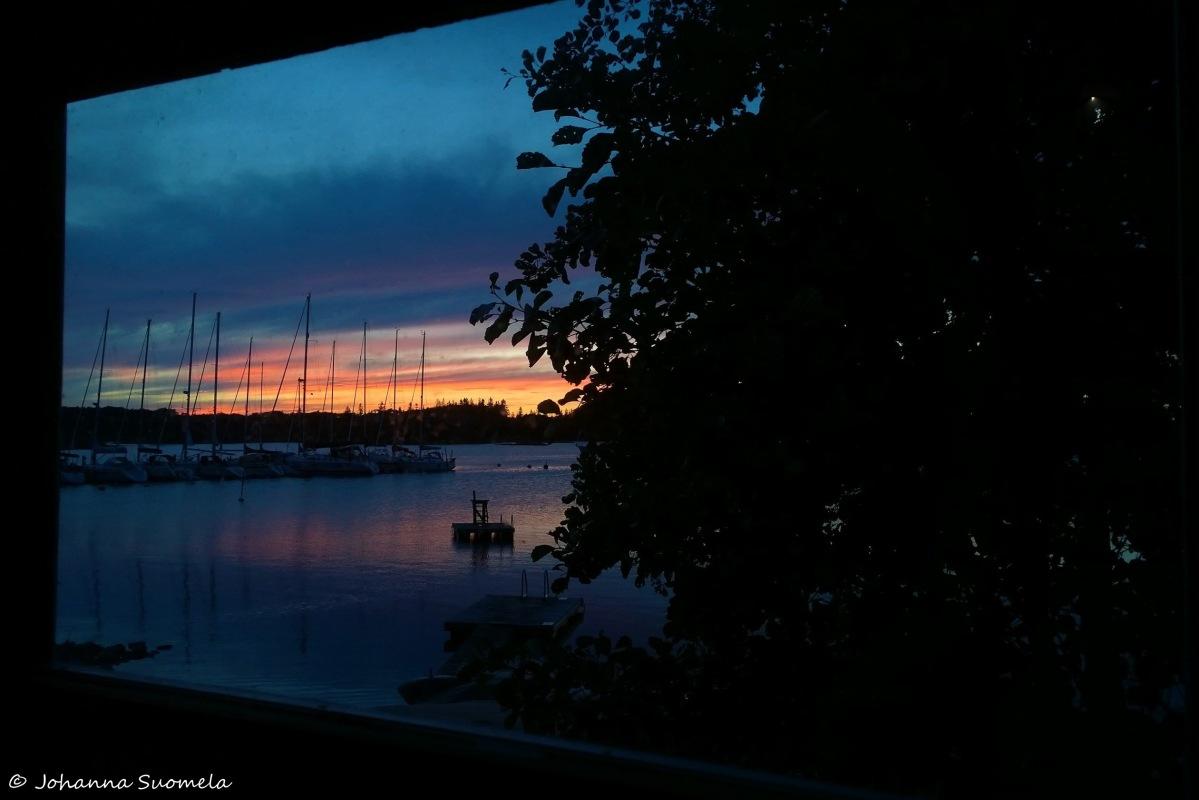 Kökar Sandvik Näköala saunan ikkunasta