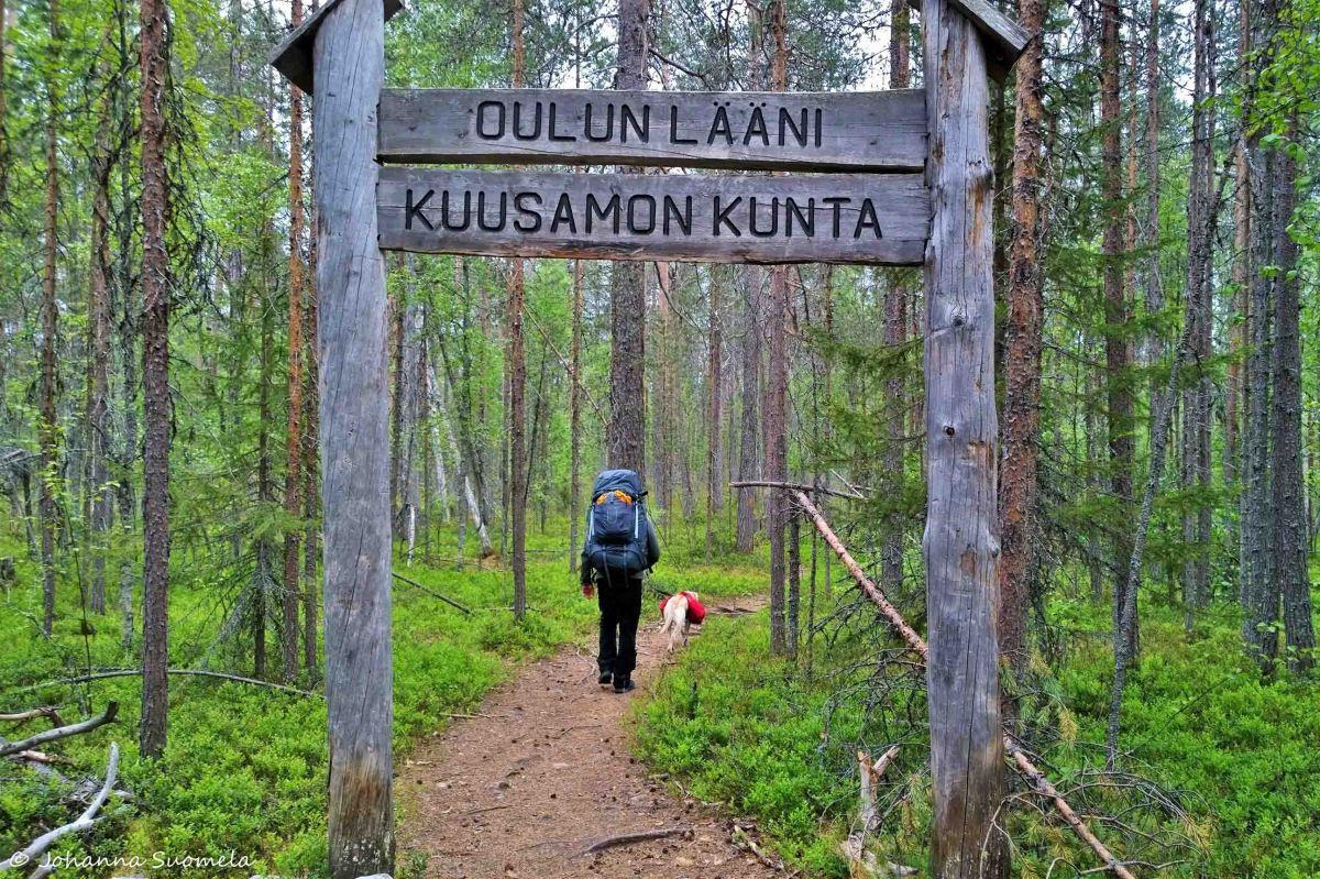Karhunkierros Kuusamon kunnan raja