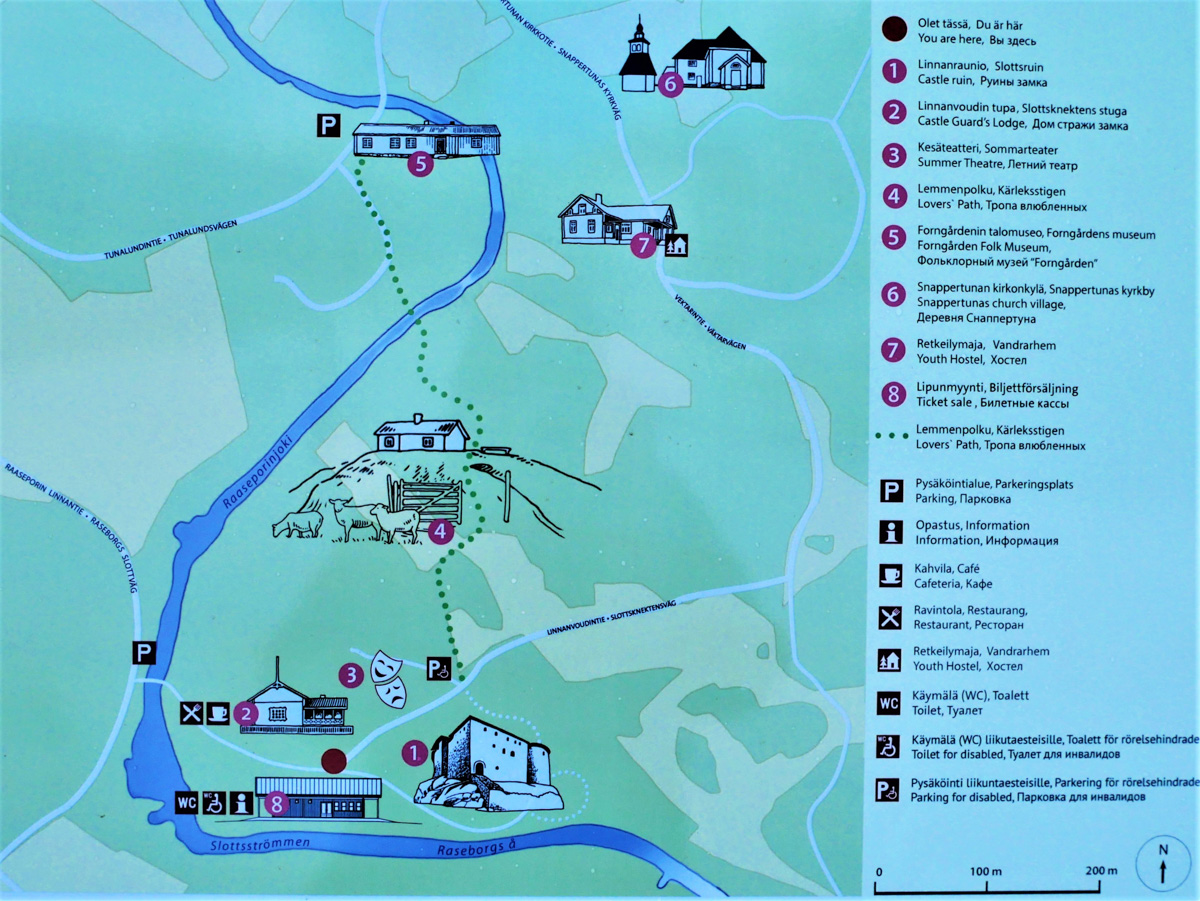 Raaseporin linna aluekartta