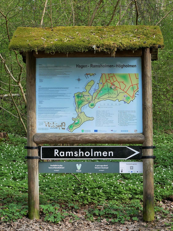 Ramsholmen opastetaulu