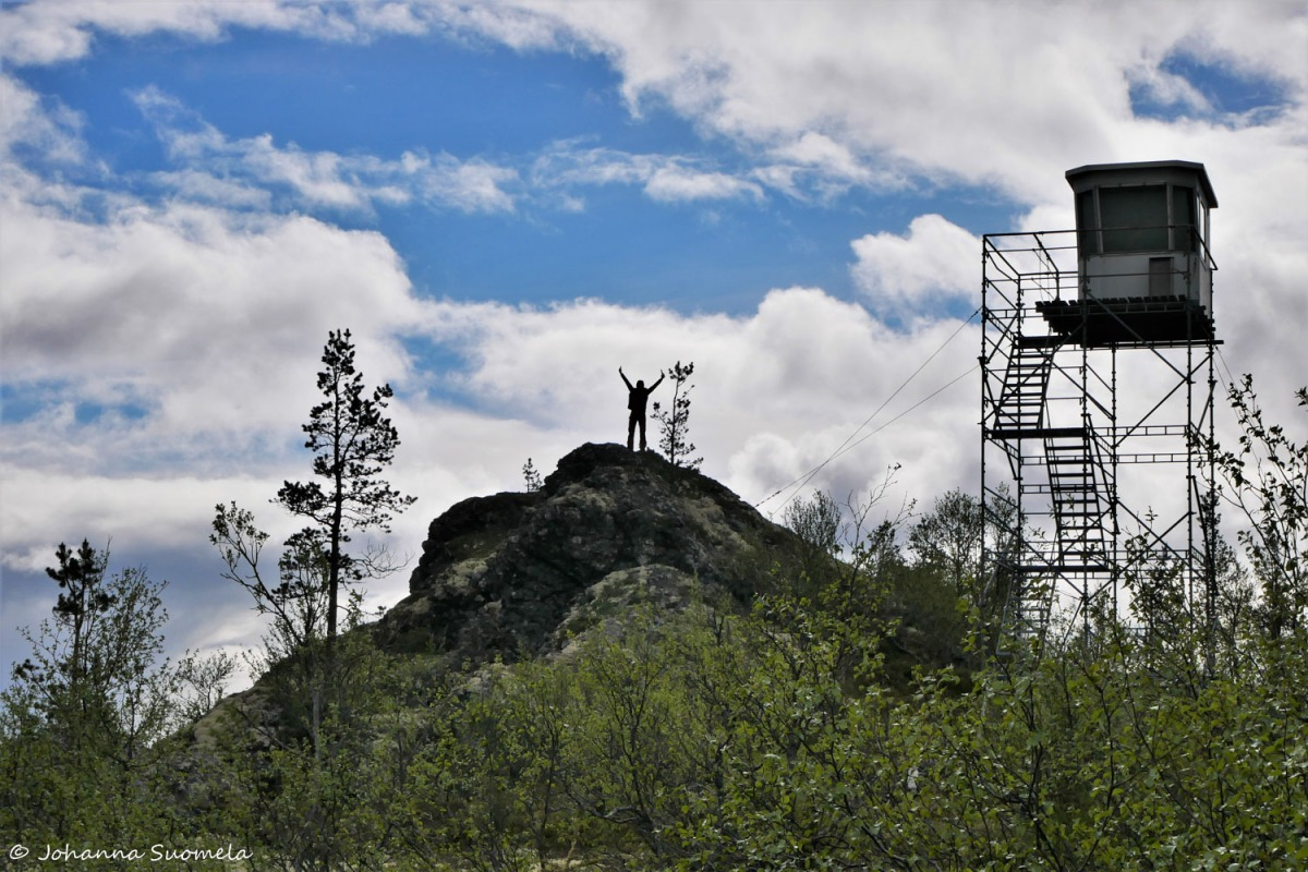 Korvatunturi vaellus UKK-puisto rajavalvontatorni